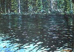 Woods Lake, near Telluride, CO, in oil