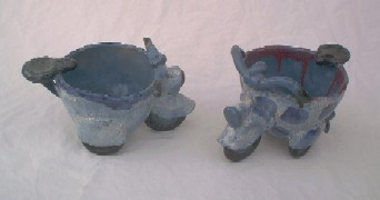 Pinch Pot 'Scooter' Cups, cone 5 Electric