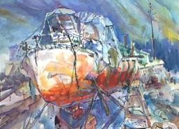 Christo Covers Boat in Ilwaco, WA!