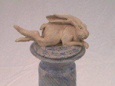 Handbuilt Bunny Lid